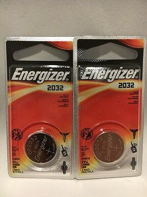 2 NEW Genuine Energizer Lithium CR2032 ECR2032 DL2032 3V Coin Button Batteries