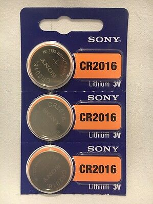 3 FRESH SONY CR2016 Lithium Battery 3V Exp 2027 Coin Cell USA SELLER