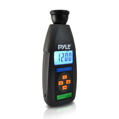 PYLE-METERS PST30 Digital LED Non Contact Stroboscope Tachometer with Backlit LC