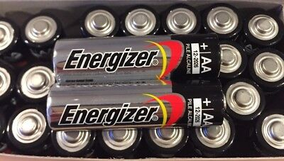 Pack of 25 Energizer AA Max Alkaline E91 Batteries Made in USA Expire: 12/2026