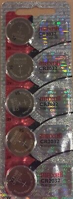 5 Maxell Hologram CR2032 3V Lithium Coin Cell Batteries- USA Seller EXP. 2023