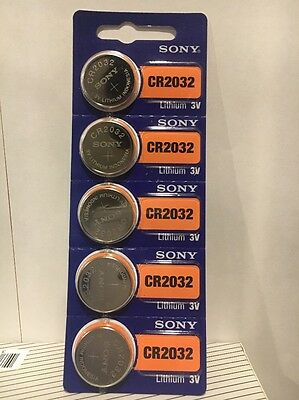 SONY CR2032 5 NEW  3V Lithium Coin Battery Expire 2026 FRESHLY NEW - USA Seller