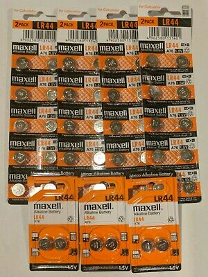 40 NEW Maxell LR44 Alkaline Button Battery A76 L1154 AG13 357 SR44 303 1.5V