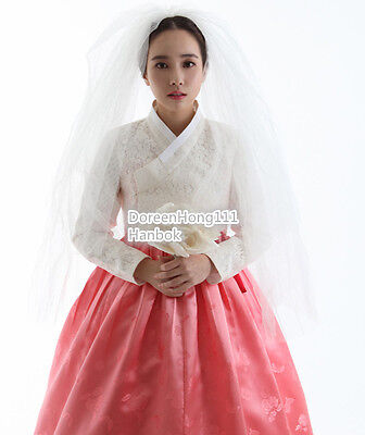 Hanbok Dress Traditional Korean Bride Groom Wedding Modern Hanbok Lace Silk Dres