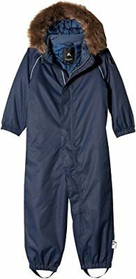 NAME IT Nitpowder Snowsuit Solid Mz B Fo, Tuta da Neve Bimba, Blu (Dress (b1D)