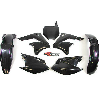 Racetech NEW Mx Kawasaki KX250F 2006-2008 RTECH Black Motocross Plastics Kit