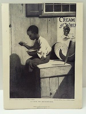 Vintage CREAM OF WHEAT Ad Denmam Fink Original 1909 Judd & Detweiler Wash DC