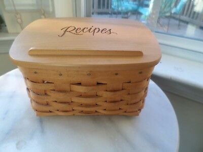 Longaberger  Small Recipe Basket Combo With Wood Lid