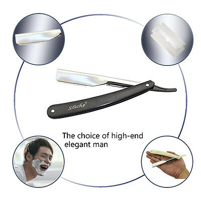 Straight Edge Stainless Steel Barber Razor Folding Shaving Shave Knife CreamHUUS