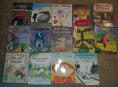 HUGE Lot of 14 children's books  Caldecott Scholastic Lionni Pfister