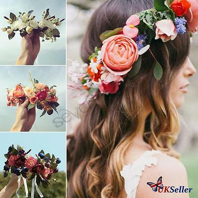 Flower Headband Crown Floral Hair bands Garlands Wedding Girl Women bridemaid