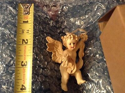 Avon new old stock vintage Angel Ornament Cherub with ribbon Christmas