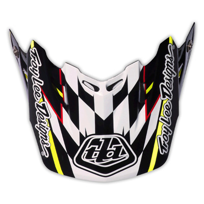 Troy Lee Designs Tld Se3 Helmet Visor Team Black Mx Motocross Dirt Bike Moto