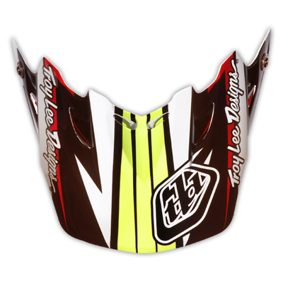 Troy Lee Designs Tld Se3 Helmet Visor Cyclops Black / Red Mx Motocross Dirt Bike