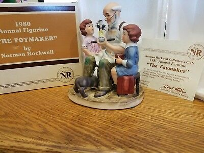 """Norman Rockwell """"The Toymaker"""" 1980 Annual Figurine FREE SHIPPING"""