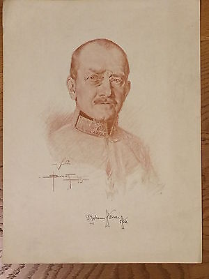 1915 - O. BRUCH Portraits of Austro-Hungarian Commanders- Dr. Johan STEINER