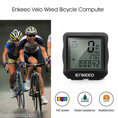 Hot Enkeeo Wired Bicycle Bike Computer Odometer Speed Speedometer Distance Time