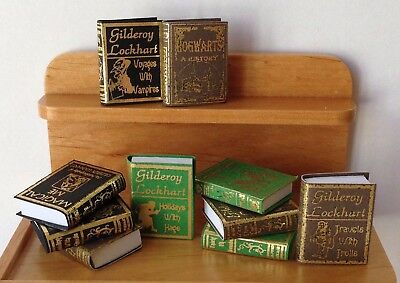Miniature Dollhouse HALLOWEEN Harry Potter ~ 10 Wizard Hogwarts School Books #2