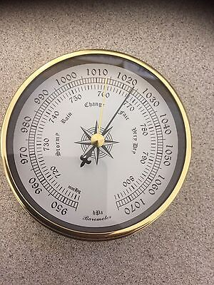 1 pc 115mm  DIAMETER Brass Barometer NEW