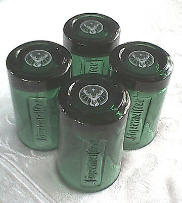 Jagermeister Shot Glasses Set Of Four (4) - 1 Oz Green Glass New Free Ship Usa!