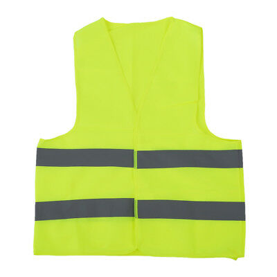 Safety vest Reflecting Strips Yellow Fluorescent High Visibility L0B0