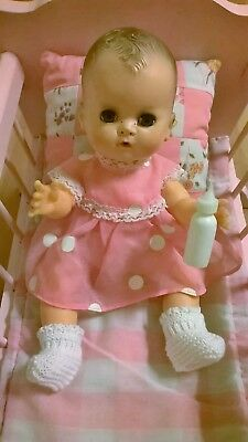 Vintage 1950's Betsy Wetsy doll Ideal squeaker works Look!