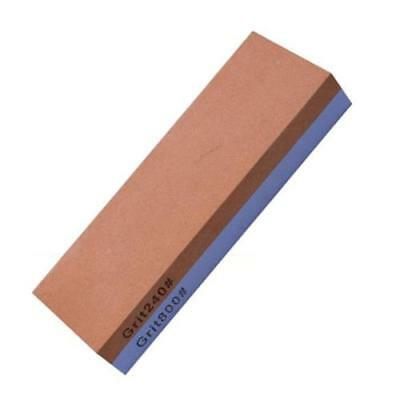 Sided White corundum Sharpening stone Grit240#/Grit800# mesh, orange and wh N2E0