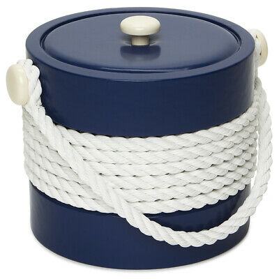 NEW Mr Ice Bucket Navy Ice Bucket with Rope Centre