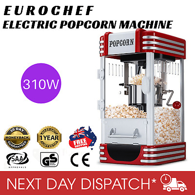 New Eurochef Popcorn Elcectric Popper Maker Machine Classic Theatre Style Cooker