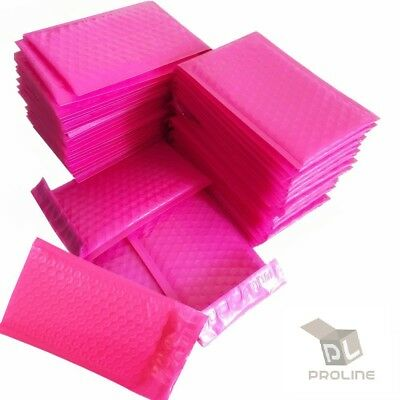 Pink Poly Bubble Padded Envelopes Self-Sealing Mailers 4X8 (Inner 4x7)