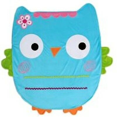 NoJo Baby Blanket- Animal Shaped: Blue Owl