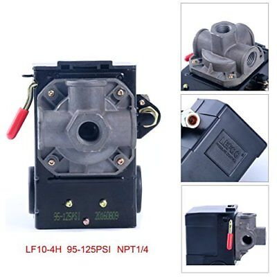Lefoo Quality Air Compressor Pressure Switch Control 95-125 PSI 4 Port w/