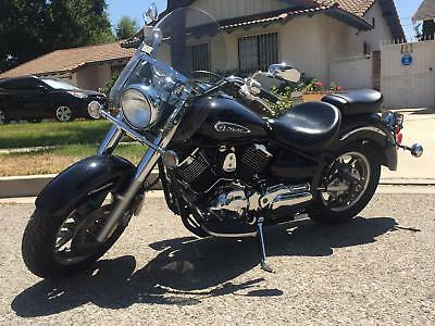 2008 Yamaha Other  2008 YAMAHA XVS1100 MOTORCYCLE 1877mi V-Star 1100 BLACK w/GHOST FLAMES Dragstar