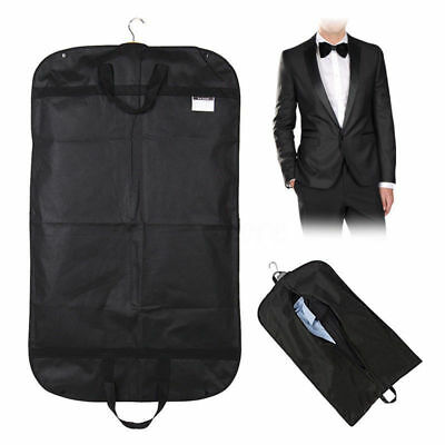 "Black 40""x24"" Large Suit Carrier Garment Cover Travel Bag Strong Nylon Foldable"