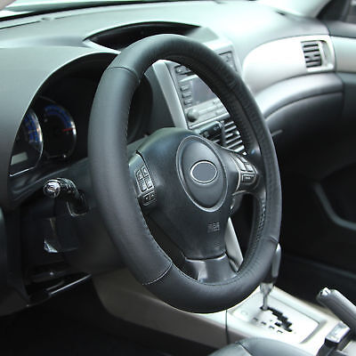 Leather Car Steering Wheel Cover Protector for 37-38cm Steering Wheel Universal
