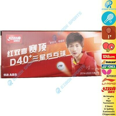 █EZBOX SPORTS█ DHS D40+ 3 star Cell-Free Dual Table Tennis Balls x30 White ITTF