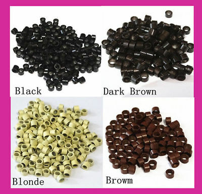 100 4.5mm Micro Rings Beads For Feather I Tip Hair Extensions AU Seller