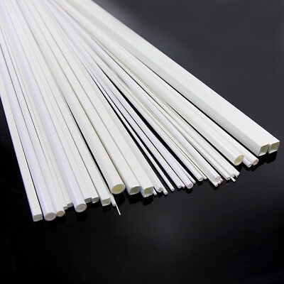 48 x Styrene ABS Round and Square Rod Pipes Tubes ABS00