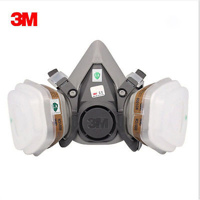 3M 6200 7502 7 in1 Suit Spray Paint Dust Mask Particulate Reusable Respirator