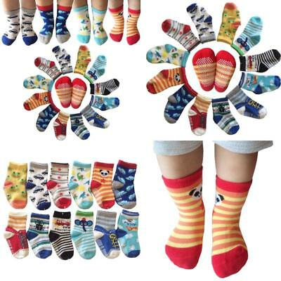 Kakalu Assorted Non-Skid Ankle Cotton Socks with Grip for 12-36 Months Baby