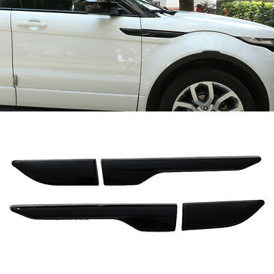 L+R Gloss Black Side fender air wing vent cover trim For range rover EVOQUE 11-*