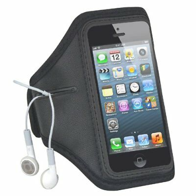 Black Adjustable Sports Running Armband Case Cover For Apple iPhone 5 5G E4F4