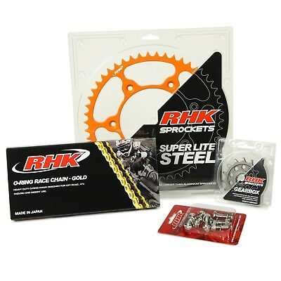 RHK NEW Mx KTM 125-530 1990-2017 Orange Motocross Chain Sprocket Bolt Kit 14/50