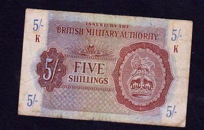 British (UK) BANKNOTE , 5 shilling -1943,  military PAYMENT