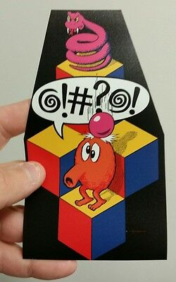 "Q Bert cabinet art sticker. 3.5 x 6"" (Buy any 3 of my stickers, GET ONE FREE!)"