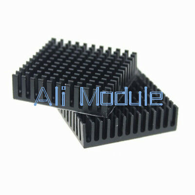 2PCS Aluminum Heatsink Cooling 40x40x11mm LED Power Memory Chip IC Transistor