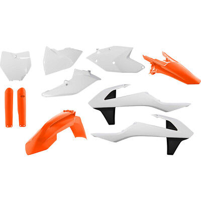 Acerbis Mx NEW KTM 125-450 SX SXF 2016 2017 Orange White Full OEM Plastics Kit