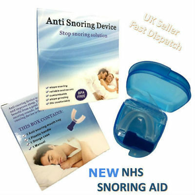 Nhs Anti Snore Snoring Mouth Guard Device Sleep Aid Stop Apnoea Doctor Approved