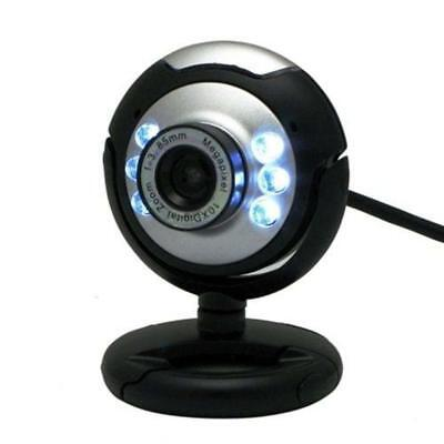 HD 12.0MP 6 LED USB Webcam Camera With Mic Night Vision For Desktop PC/ Laptop