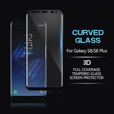 Fr Samsung Galaxy Note8 S8 S8Plus 3D Curved Tempered Glass Film Screen Protector